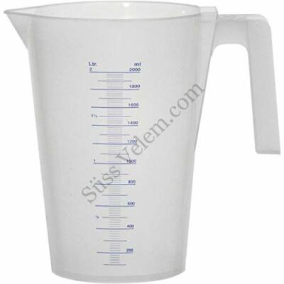 2 l-es LAUTERJUNG műanyag mérőkancsó kis fokozatú ml beosztással