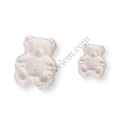 2 részes Teddy medve fondant kiszúró készlet