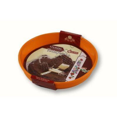 20 cm-es 4 cm mély szilikon tortaforma