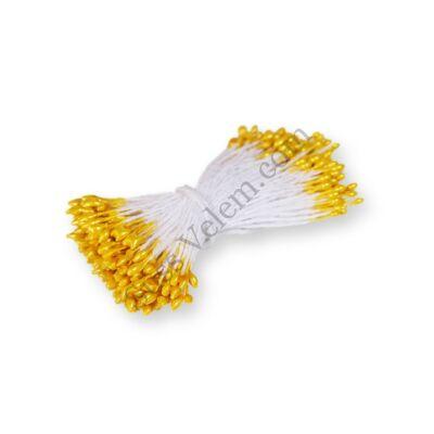 200 szál sárga virág porzó tortadíszítéshez 0,1 cm