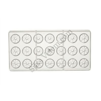 21 adagos kuglóf alakú polikarbonát bonbon forma