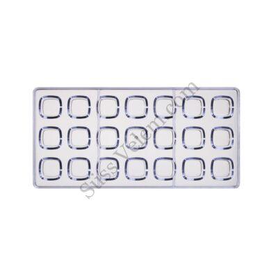 21 adagos négyzet alakú polikarbonát bonbon forma