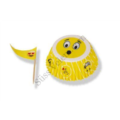 24 adagos Emoji mitás muffin díszítő készlet