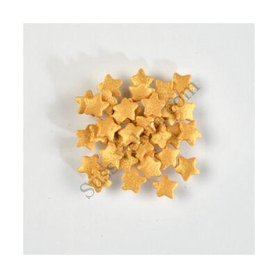 250 g arany színű csillag alakú cukorkonfetti tortadekor