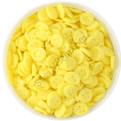 250 g sárga Simley cukorkonfetti tortadekor