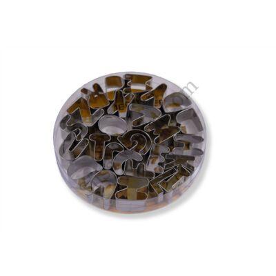 26 részes fém betű kiszúró készlet