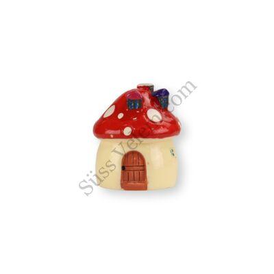 3,5 cm-es mini gombaház porcelán tortadísz szülinapi tortára (4 színben)