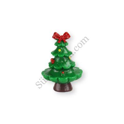 3,5 cm-es mini masnis karácsonyfa műanyag tortadísz