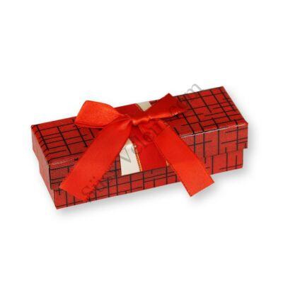 3 adagos piros-fekete masnis bonbon doboz
