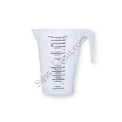 3 l-es LAUTERJUNG műanyag mérőkancsó kis fokozatú ml beosztással