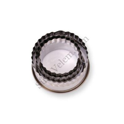 3 részes fém linzer kiszúró készlet