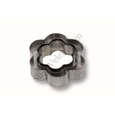 3 részes fém virág kiszúró készlet