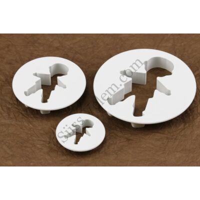 3 részes gyerek alakú keksz és fondant kiszúró készlet