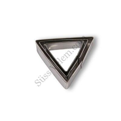 3 részes háromszög alakú sütikiszúró készlet