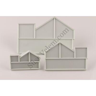 3 részes ház alakú fondant kiszúró készlet