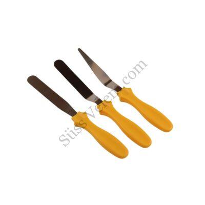 3 részes kis méretű műanyag nyelű spatula készlet