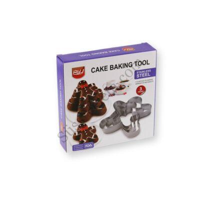 3 részes Mézi alakú tortakeret készlet