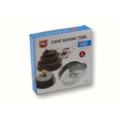 3 részes tortakarika készlet
