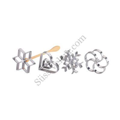 4 fejes Tescoma Delicia virágfánk sütőforma készlet