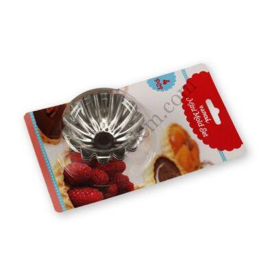 4 részes lekerekítet kosárka sütőforma készlet