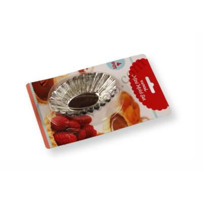 4 részes ovális kosárka sütőforma készlet