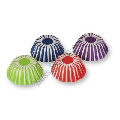 4 színű csíkos 100 db-os muffin papír