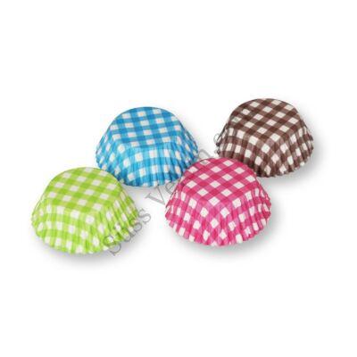 4 színű kockás 100 db-os muffin papír