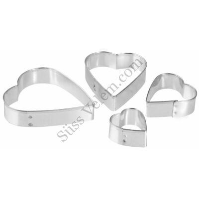 4 részes Zenker szív alakú sütikiszúró készlet
