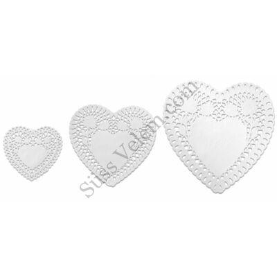 3 méretű Zenker szív alakú tortacsipke
