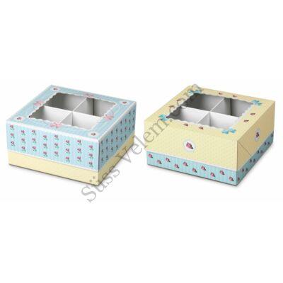 2 db mintás Zenker muffin tartó doboz