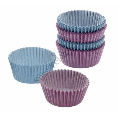 100 db Zenker kék és lila muffin papír