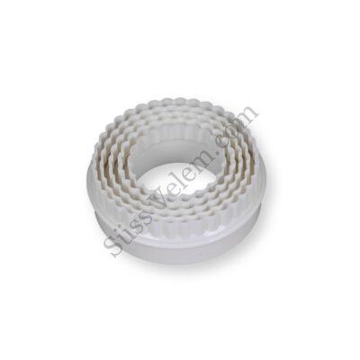 5 db-os kör alakú műanyag süti kiszúró szett