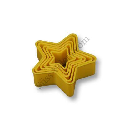 5 db-os műanyag süti kiszúró szett