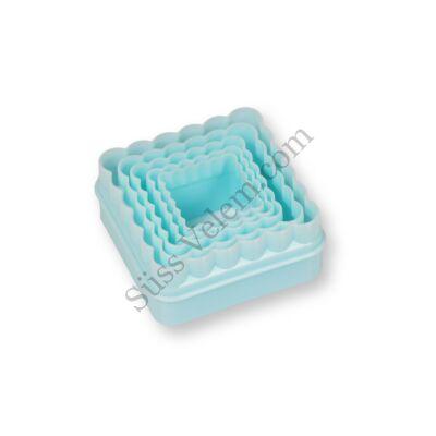 5 db-os négyzet alakú műanyag süti kiszúró szett