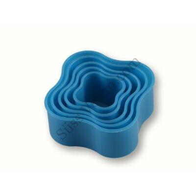 5 részes lekerekített négyzet alakú süti kiszúró