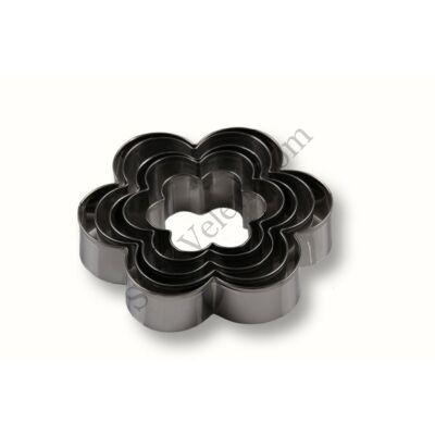 5 részes nagy méretű virág alakú kiszúró készlet