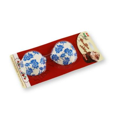 50 db fehér alapon mintás muffin papír