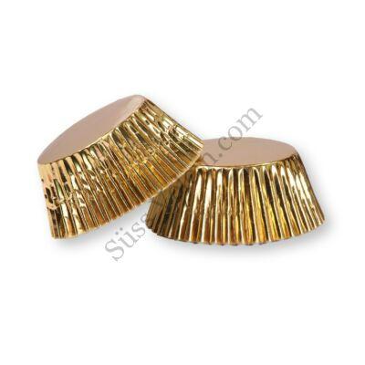 50 db-os arany fényes muffin papír