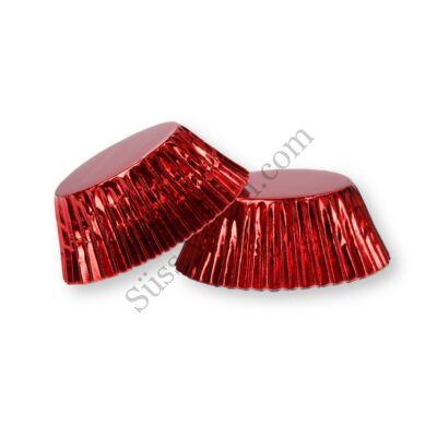 50 db-os piros fényes muffin papír