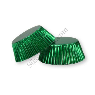 50 db-os zöld fényes muffin papír