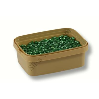 5 mm-es metál zöld cukorgyöngy 20 dkg