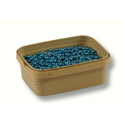 5 mm-es metál kék cukorgyöngy 20 dkg