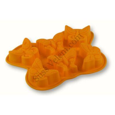 6 adagos lepke alakú szilikon muffin sütőforma