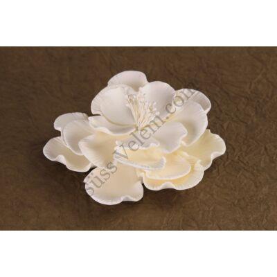 6 db fehér óriás rózsa cukorvirág (nem ehető)