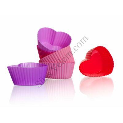 6 db szív alakú Banquet szilikon muffin kapszli