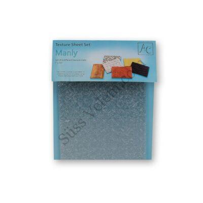 6 -féle textura fondant mintázó