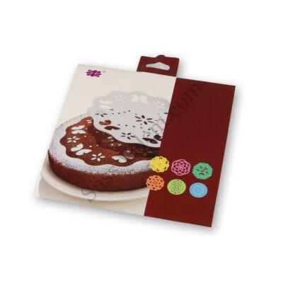 6 -féle tortastencil dekoráláshoz