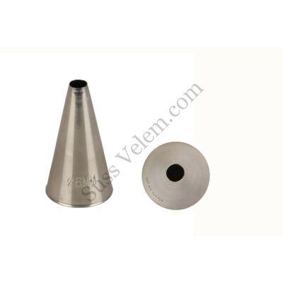 6 mm-es kerek nagyméretű díszítőcső