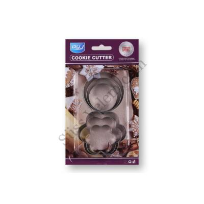 6 részes kör és virág alakú süti kiszúró készlet
