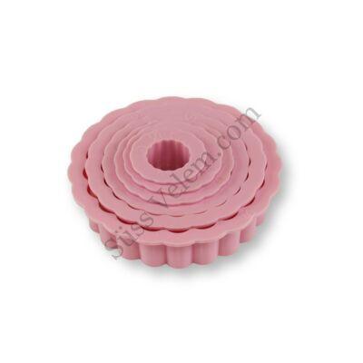 6 részes műanyag virág sütemény kiszúró